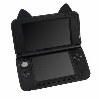 Cat Neko Nyan Silicon Case Cover For Old Nintendo 3DS LL XL black