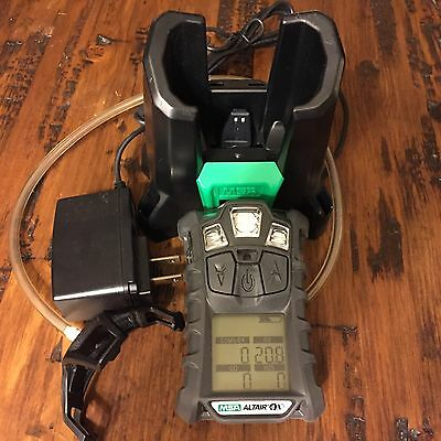MSA altair 4X multi gas Meter Monitor detector, O2,H2S,CO,LEL +  Cradle Charger