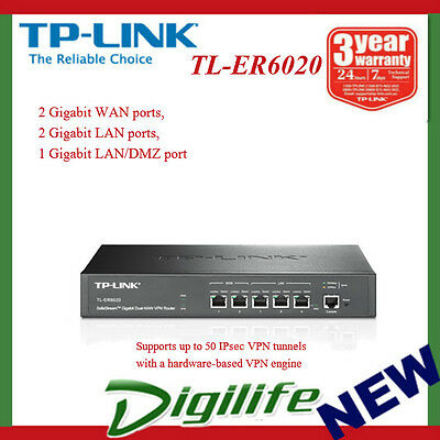 TP-LINK TL-ER6020 SafeStream Gigabit Dual-WAN VPN Router