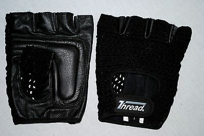 Wheelchair,training Gloves,real Leather Knitted Mesh Back, Black Color Thread(R)