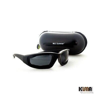 1 Pair Foam Padded Smoke Lens Motorcycle Riding Glasses with Sports Capsule