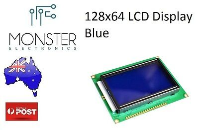 128x64 Dots Graphic Blue Color Backlight LCD Display Module  Arduino AU Stock