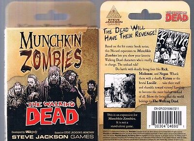 Munchkin Zombies Walking Dead Expansion Edition Steve Jackson 2015 New & Sealed