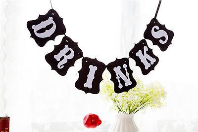 """DRINKS"" Bunting Garland Banner Wedding Parties Reception Buffet Decoration"