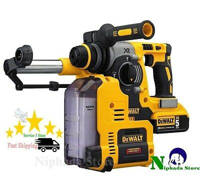 """DEWALT Professional Dust Extractor for 1"""" 20V MAX SDS Hamme Powerful Dust  NEW"""