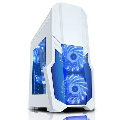 CiT G Force White Midi Tower Gaming Case - USB 3.0
