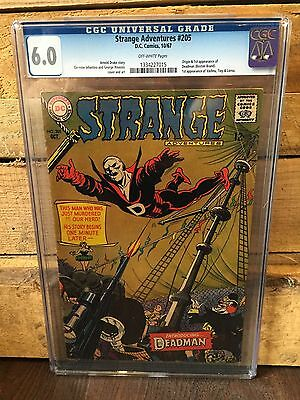 Strange Adventures #205 Cgc 6.0 Fn 1St App Of Deadman (Id 6921)