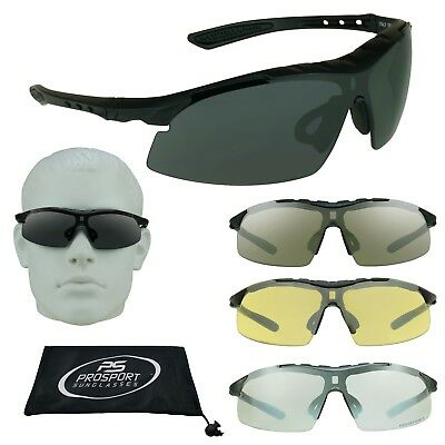 Safety Sun Glasses Foam Cushion Z87 Large Fit Smoke, Clear, Yellow Cycling Mens