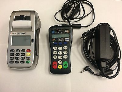 First Data FD100Ti Credit Card Machine, With Pin Pad, & Thermal Paper Rolls