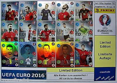 Panini Adrenalyn XL EM Euro 2016 Limited Edition auswählen / choose