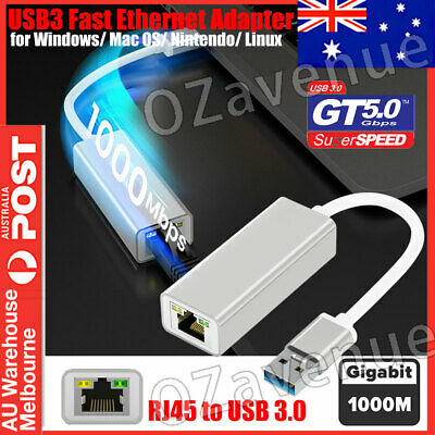 SuperSpeed USB 3.0 to RJ45 Gigabit 1000Mbps Ethernet Network Adapter For MAC