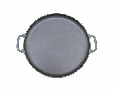 ForHauz Pre-Seasoned Cast-Iron Round Cookware Griddle Pizza Pan 14 Inch