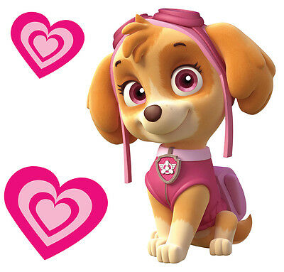Skye Paw Patrol Totally Movable Wall Sticker Decal Remove & Reuse Home Decor