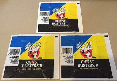 Ghostbusters II - 10x Wax Pack Card Wrapper LOT - 1989 TOPPS - NO TEARS !!!