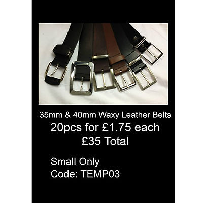 Wholesale Lot Offer Of Mix 35mm/40mm Waxy Leather Belts Made In England TEMP03