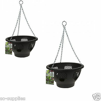 2 X Easy Fill Bloom Hanging Baskets Garden Plant Pot Flower Basket Container
