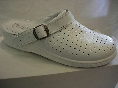 Nhs Chef Doctor Dentist Health Leather Kitchen Clogs Nurses Theater  Mules Shoe