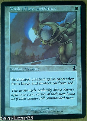 Magic Mask Of Law And Grace Eng Enchante Creature Common White Urza's Destiny