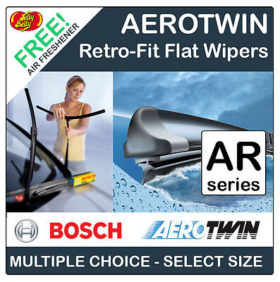 "Bosch 'ar' Aerotwin Retrofit Flat Front Wiper Blades - All Sizes 13"" To 26"""