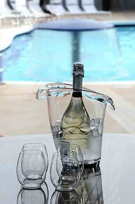 Wine Bottle Cooler Ice Bucket Plastic Clear Acrylic Champagne Display