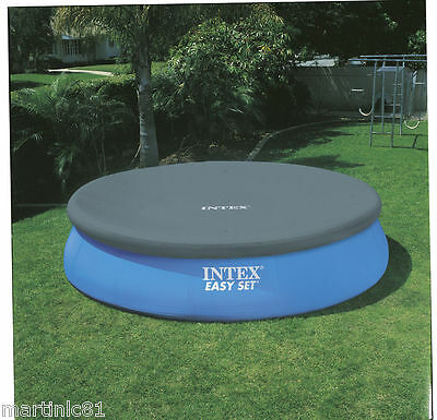 INTEX EASY SET POOL COVER 8ft 10ft 12ft ROUND SWIMMING POOL PADDLING
