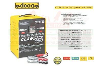 Carica Batteria Deca 12V / 24V Made In Italy Max 140A Caricabatterie Class 12A