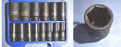 """SET BUSSOLE RINFORZATE ATTACCO 1/2"""" LUNGHE 10-32mm 14pz IMPATTO GERMANY PRO+"""