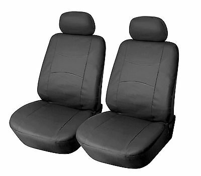 Leather like Two Front Car Seat Covers For Nissan 159 - Black