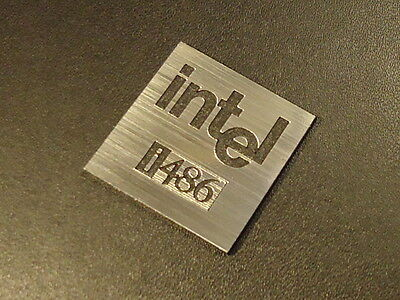 Intel 486 Label / Logo / Sticker / Badge 25 x 25 mm [285d]