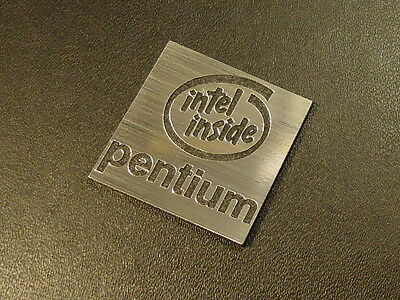 Intel Pentium Label / Logo / Sticker / Badge 25 x 25 mm [286]
