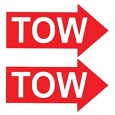 2 x TOW RED ARROWS Race / Rally Car Decals / Stickers