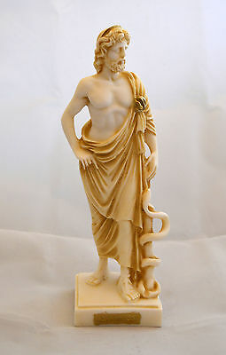 Asclepius Alabaster statue aged  Ancient Greek Great God of medicine