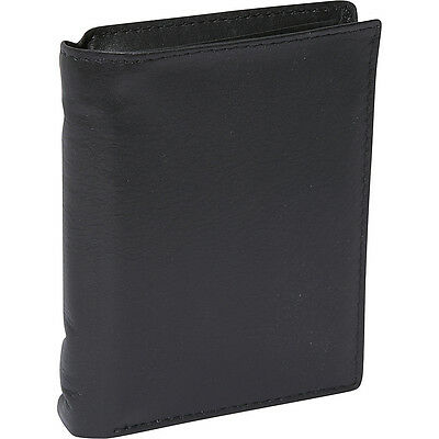 Buxton Houston Deluxe Two-Fold - RFID - Black Mens Wallet NEW