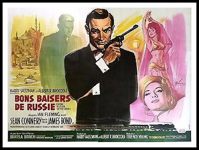 FROM RUSSIA WITH LOVE * CineMasterpieces 1963 FRANCE MOVIE POSTER JAMES BOND