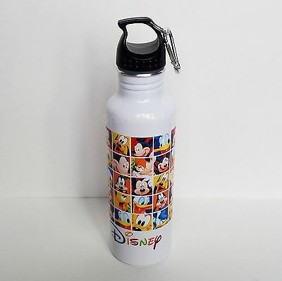 Disney - Mickey Mouse Donald Goofy Pluto Aluminum Water Bottle - Backpack Clip