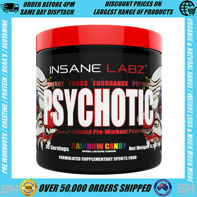 Insane Labz Psychotic Pre-Workout - Strongest Pre Workout Insane Labs 35 Serves