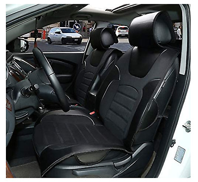 Car seat covers cushions leather like 2 front solid Black for Chrysler