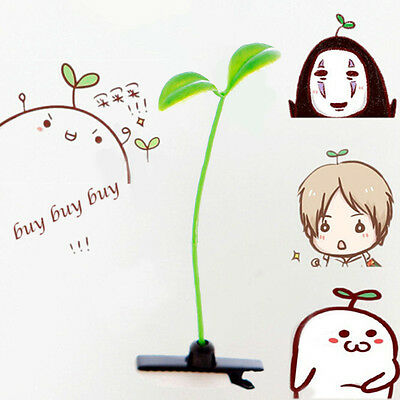4PCS Novelty Green Cute Bean Sprout Antenna Hairpin Hair Clip No Age limited HOT