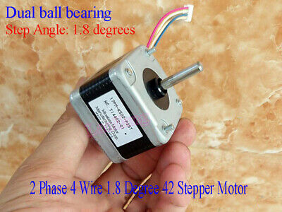 Dual ball bearing 2 Phase 4 Wire 1.8 Degree 42MM Stepper Motor Fr CNC 3D Printer