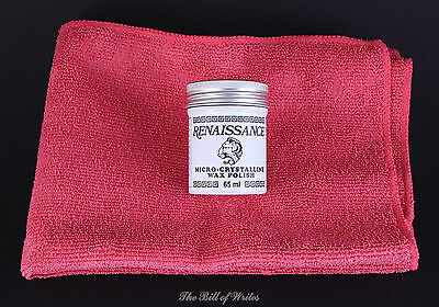 "Renaissance Wax / Polish - 65ml with 16"" x16"" Commercial Grade Microfiber Cloth"