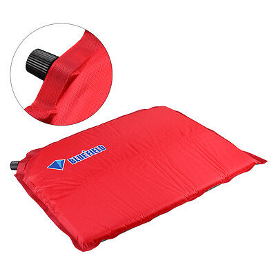 Mini Red Self Inflatable Cushion Seat for Camping Travel Hiking Outdoor Sports