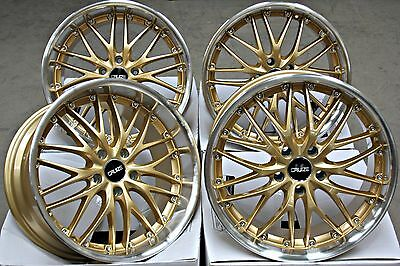"18"" Cruize 190 Alloy Wheels Gold Pol Deep Dish Staggered 5X112 18 Inch Alloys"
