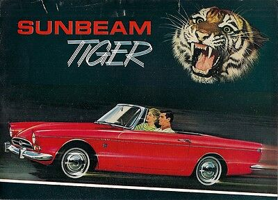 Sunbeam Tiger Mk1 260 cu in 1965-66 UK Market Sales Brochure