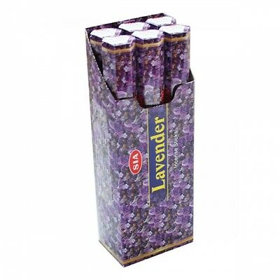 LAVENDER- SIA Incense sticks 6 Hexa packs - 20 sticks each-12367