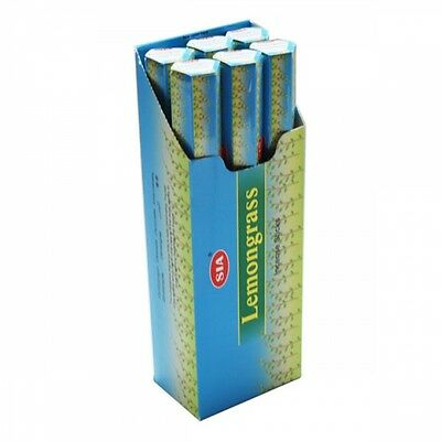 LEMONGRASS- SIA Incense sticks 6 Hexa packs - 20 sticks each-12473