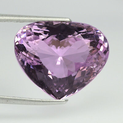 13.12 Ctw Heart Breaking Shape Natural Kunzite With Video