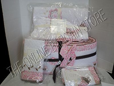 Pottery Barn Kids Bethany Crib Nursery Baby Bumper Quilt Bed Skirt Sham 4 PC