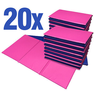 NEW 20x Folding Nursery Sleep Mats Pink/Blue for Children & Toddlers