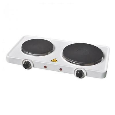 Electric Dual Twin Double Rings Hot Plates Portable Table Cooking 2500 W Watts