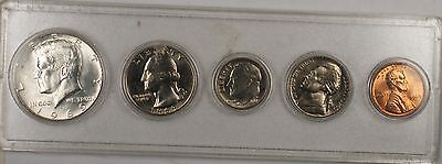 1969 D US Uncirculated Year Set with 40% Silver Half 5 Brilliant Coins Total